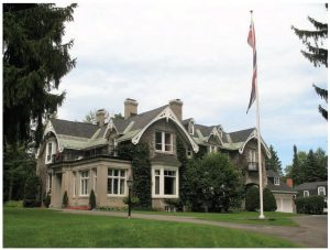 The massive stone Gothic Revival home inhabited by Norwegian Ambassador Anne Kari Hansen Ovind and her husband, Tom, is set up on a hill in Rockcliffe Park, overlooking the grounds of Rideau Hall. (Photo: compliments of the embassy of Norway)