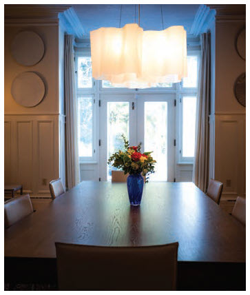 The ambassador's dining room seats 18 comfortably. (Photo: Ashley Fraser)