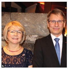 Finnish Ambassador Roy Eriksson and his wife, Victoria, hosted an independence day reception at their residence. (Photo: Ülle Baum)