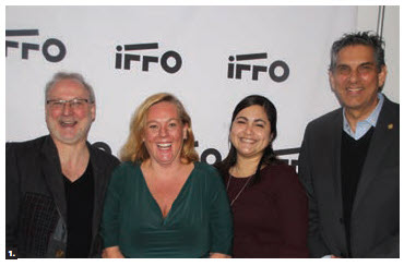 The launch of the new International Film Festival of Ottawa (IFFO) took place at the Ottawa Art Gallery. From left: Tom McSorley, executive director of the Canadian Film Institute, Ontario Culture Minister Lisa MacLeod, Areadna Quintana Castaneda, cultural attaché from the Embassy of Cuba and Costa Rican Ambasssador Mauricio Ortiz Ortiz. The IFFO was to take place March 25 to 29. (Photo: Ülle Baum)