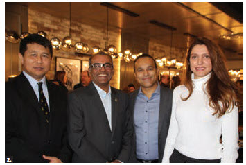 The launch of the new authentic Italian halal restaurant, Kara Mia, took place at the Elmvale Acres Shopping Centre. From left: Brunei High Commissioner Kamal Bashah Pg Ahmad, MP Chandra Arya, owner Feroze Shaik and Lebanese economic attaché Vanessa G. Naddaf. (Photo: Ülle Baum)