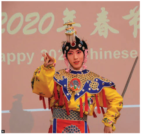 Chinese Ambassador Peiwu Cong and his wife, Tong Zhang, hosted a Chinese New Year reception and concert at the embassy. This dancer performed. (Photo: Ülle Baum)