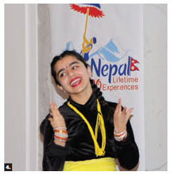 The Nepal embassy hosted a presentation and performance titled Visit Nepal 2020 at the Lord Elgin Hotel. This dancer performed. (Photo: Ülle Baum)