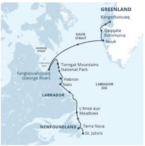 The journey, which began in Kangerlussuaq, Greenland, took us through fjords, cities, historical sites and both lush and starkly wild national parks. We explored on aboard ship, by bus, on foot, by Zodiac and by kayak.