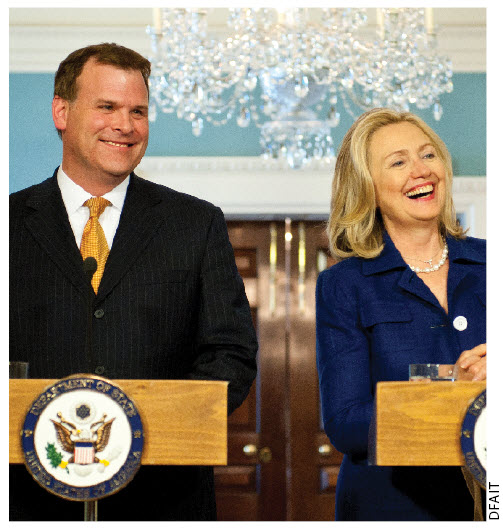 Foreign Minister John Baird met with U.S. Secretary of State Hillary Clinton in August in Washington.