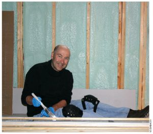 David Jacobson enjoyed his afternoon of manual labour as part of a Habitat for Humanity project in Orleans.