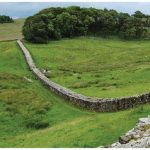 Hadrian's Wall, built by the Romans to keep the Scots tribes from invading southward, was 120 kilometres in length.