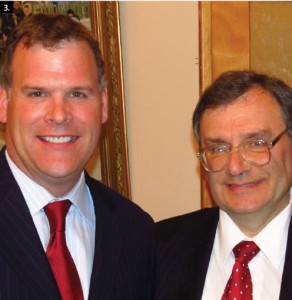 Russian Ambassador Georgiy Mamedov, right, hosted a national day reception at the embassy. He's shown with Foreign Minister John Baird. (Photo: Frank Scheme)