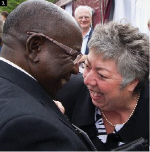 At a CUSO event in Ottawa, Nigerian High Commissioner Iyorwuese Hagher was reunited with Diane Labelle-Davey, a Canadian woman who taught him French 41 years ago in Nigeria.