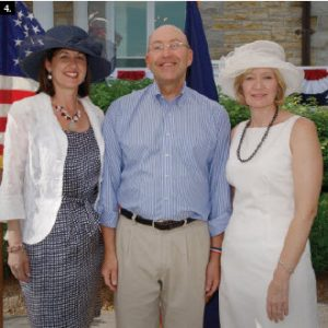 U.S. Ambassador David Jacobson and his wife, Julie, hosted an Independence Day party at their residence. They're shown with Laureen Harper. (Photo: Gregory Abraszko)
