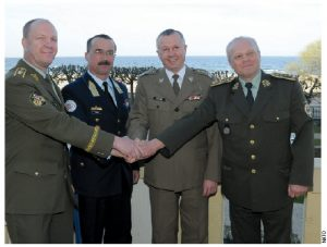 Chiefs of defence from the Visegrad Group — Poland, Slovakia, Czech Republic and Hungary — meet regularly, as they did here, in Sopot, Poland.