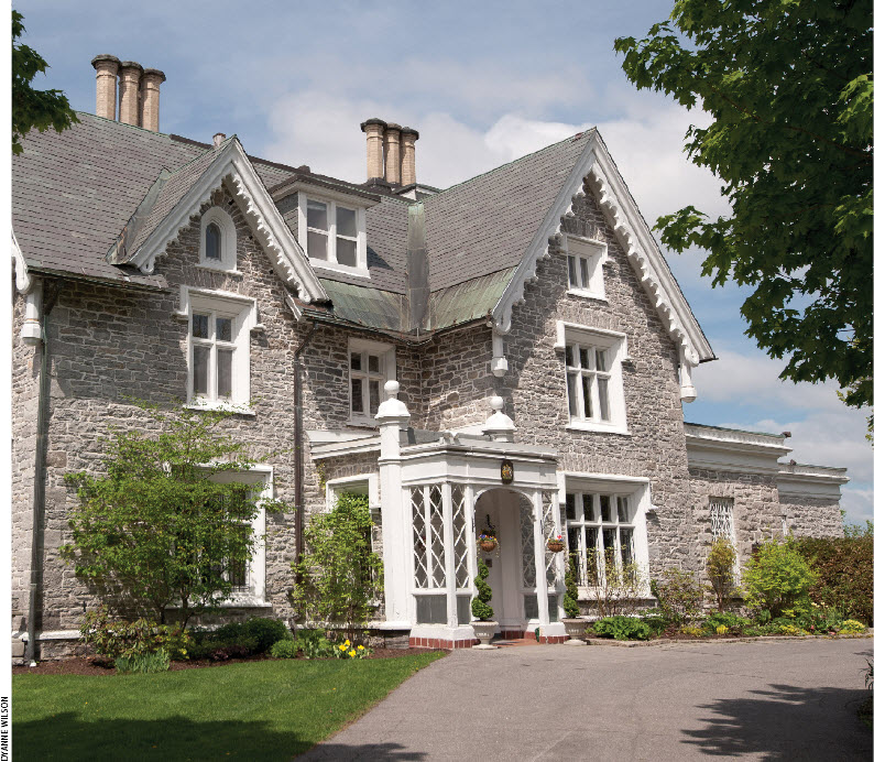The elegant home now owned by the British government and occupied by British High Commissioner Andrew Pocock and his wife, Julie, was once home to Canada's first prime minister, Sir John A. Macdonald.