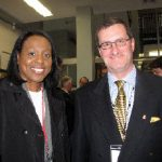 With the Ottawa Diplomatic Association, Carleton University's new Initiative for Parliamentary and Diplomatic Engagement held a federal election primer in April. Shown, Fen Hampson, director of Carleton's Norman Paterson School of International Affairs, and Jamaican High Commissioner Sheila Sealy-Monteith. (Photo: Jennifer Campbell)