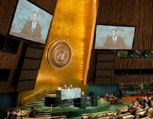 Newly appointed as foreign affairs minister, John Baird, makes his inaugural appearance at the UN General Assembly in September.