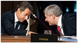 French President Nicolas Sarkozy and Prime Minister Stephen Harper — seen here at the G8 in Muskoka in June — will have both chaired the G8 and G20 Summits within a year of each other.