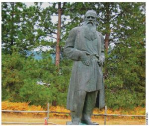 A statue of Leo Tolstoy at B.C.'s Doukhobor Discovery Centre