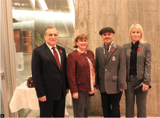 "Turkish Ambassador Rafet Akgünay and his wife, Zeynep, attended an exhibition entitled ""Poppies"" at the Canadian War Museum. From left, The Akgünays, Turkish painter Hikmet Çetinkaya and his wife, Oytun Çetinkaya."