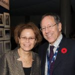 Israeli Ambassador Miriam Ziv attended an event put on in conjunction with the Jewish Federation of Ottawa to kick off Holocaust Education Week in November. She's shown with MP Irwin Cotler. (Photo: Peter Waiser)