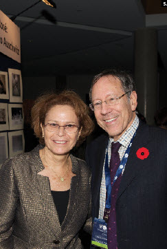 Israeli Ambassador Miriam Ziv attended an event put on in conjunction with the Jewish Federation of Ottawa to kick off Holocaust Education Week in November. She's shown with MP Irwin Cotler. (Photo: Peter Waiser) Israeli Ambassador Miriam Ziv attended an event put on in conjunction with the Jewish Federation of Ottawa to kick off Holocaust Education Week in November. She's shown with MP Irwin Cotler. (Photo: Peter Waiser)