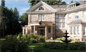 Italian Ambassador Andrea Meloni and his wife, Paola Bracci, live in this stately home, said to be built of the same limestone as the Parliament buildings.
