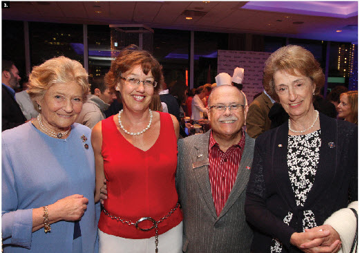 The Westin hosted its annual Canada Day fireworks party July 1. From left, Lady Diana Farnham, lady-in-waiting to Queen Elizabeth, Sally Verhey, William Verhey, the Westin's director of protocol events and diplomatic hospitality, and Lady Susan Hussey, lady-in-waiting to Queen Elizabeth.