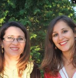 Moroccan Ambassador  Nouzha Chekrouni, left, with her daughter Sarah Bentefrit, at her national day reception July 30. (Photo: Ulle Baum)