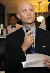 Guatemalan Ambassador Georges de La Roche held a fundraiser June 30 and raised $16,000 to send directly to the Disaster Relief Institution in Guatemala to help in the wake of June's volcanic eruptions followed by the flooding from tropical storm Agatha. (Photo: Lois Siegel)