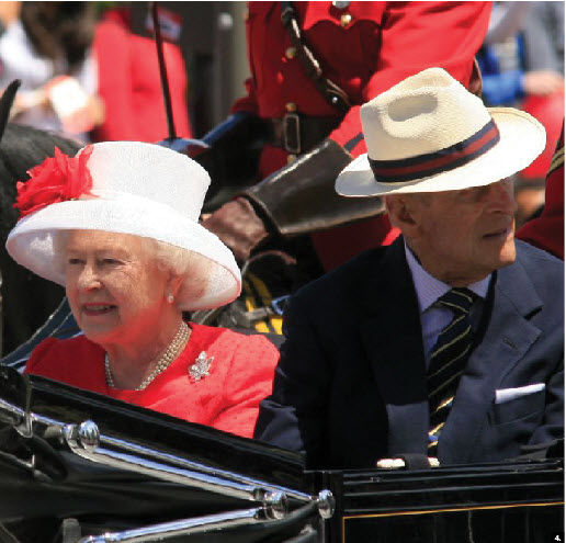 Queen Elizabeth and Prince Philip toured Canada this summer with a stop in Ottawa for Canada Day. (Photo: Frank Scheme)
