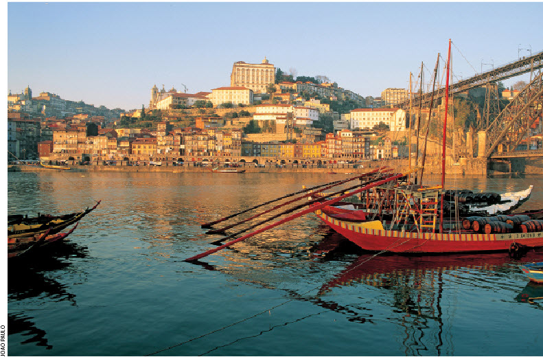 Oporto (the English spelling for Porto) is Portugal's second largest city, known worldwide for its prime export, Port wine, but also for its winning soccer team.