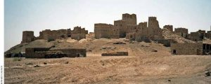 Malraux's enthusiasm for flight, combined with his love of art and his weakness for pretend archaeology, sent him searching for the ruins of Marib, the ancient capital of Sheba, pictured here.