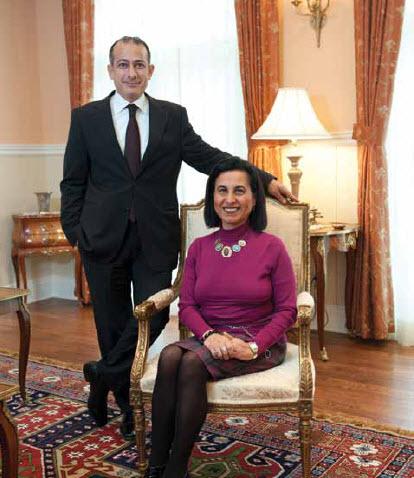 Ambassador Wael Aboul-Magd and his wife, Hanan Mohamed Abdel Kader