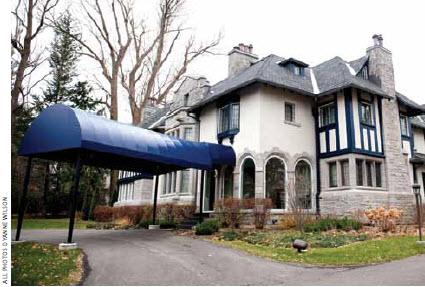 The exterior of the Acacia Avenue home