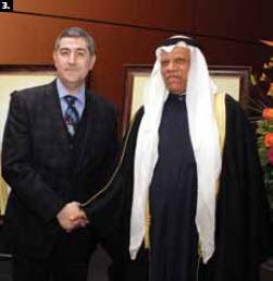 3. To mark the 51st anniversary of the national day of Kuwait, Ambassador Ali H.S. Al-Sammak hosted a dinner-reception at the Ottawa Convention Centre Feb. 27. He's shown with Saudi Ambassador Osamah A. Al Sanosi Ahmad. (Photo: Sam Garcia)