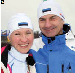 4. In February, Estonian Prime Minister Andrus Ansip and his daughter, Reet Pallas, successfully finished their fourth cross-country ski marathon together, and their first in Canada. (Photo: Ulle Baum)