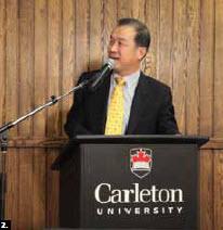 Chinese Ambassador Junsai Zhang was the final speaker at Carleton University's Ambassadors Speakers Series (Photo: Patrick Hollier)