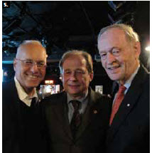 The German Embassy hosted an evening at the National Arts Centre to celebrate Oscar Peterson's time spent in the Black Forest. From left, German Ambassador Georg Witschel, Matthias Brunner-Schwer and former Prime Minister Jean Chretien. (Photo: Jennifer Campbell)