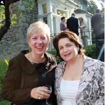 Albanian Ambassador Elida Petoshati, right, and Lithuanian Ambassador Ginte Damusis enjoy Norway's National Day party (Photo: Ulle Baum)