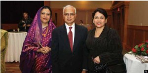 Bangladeshi High Commissioner Yakub Ali hosted a national day reception at the St. Elias Centre. From left, his wife, Mehera Yakub, Mr. Ali and Cuban Ambassador Teresita Vicente Sotolongo. (Photo: Sam Garcia)