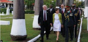 During a visit to Trinidad and Tobago, Gov. Gen. David Johnston and his wife, Sharon, participated in a wreath-laying at St. James Commonwealth Military Cemetery. (Photo: MCpl. Dany Veilette)