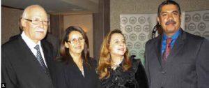 The National Press Club of Canada Foundation held a farewell dinner for departing Tunisian Ambassador Mouldi Sakri and George Abou-Zeid, chargé d'affaires of the embassy of Lebanon. From left, Mr. Sakri, Moroccan Ambassador Nouzha Chekrouni, Nora Derradji, Algerian diplomat, and Yemeni Ambassador Khalid Bahah.