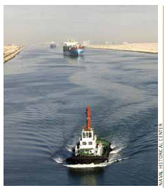 The Suez Canal puts Egypt at the crossroads of Afro-Eurasia trade.
