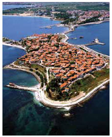 Nessebar, one of Bulgaria's major seaside resorts.