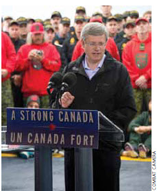 Stephen Harper says the North's time has come.