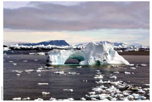 An iceberg near Cape York, Greenland. The rate of the Greenland melt is one of the key drivers of global sea-level rise.