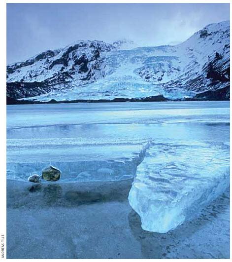 Gígjökull is an outlet glacier extending from Eyjafjallajökull, Iceland.