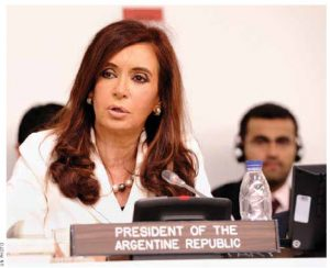 Argentine President Cristina Elisabet Fernández de Kirchner is one of many female heads-of-state in Latin America and the Caribbean.