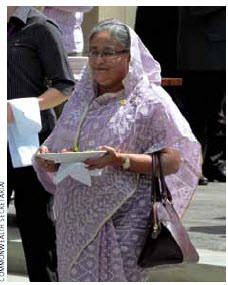 Sheikh Hasina is the current Bangladeshi prime minister.