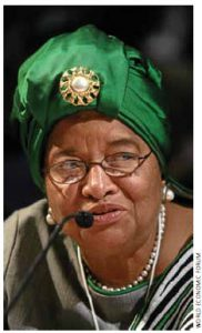 Ellen Johnson Sirleaf is Africa's first democratically elected head of state.