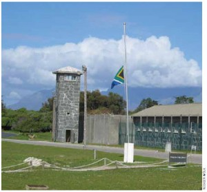 Nelson Mandela spent nearly 27 years behind bars on Robben Island.