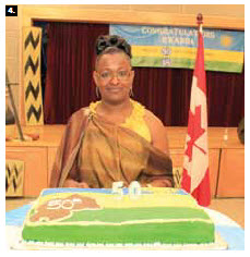 In July, Rwandan High Commissioner Edda Mukabagwiza hosted a reception to mark Rwanda's 50th anniversary of independence at tRichelieu-Vanier Community Centre.